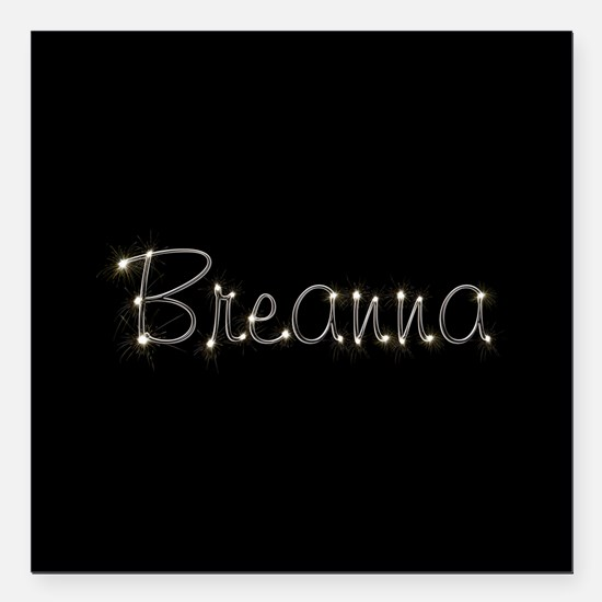 "Breanna Spark Square Car Magnet 3"" x 3"""