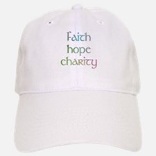 Faith Hope Charity watercolor Baseball Baseball Cap