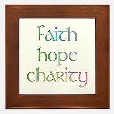 Faith Hope Charity watercolor Framed Tile