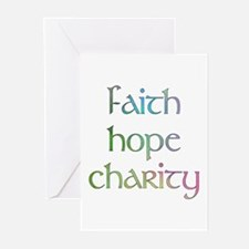 Faith Hope Charity watercolor Greeting Cards (Pack