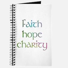 Faith Hope Charity watercolor Journal