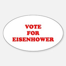 Vote For Eisenhower Oval Decal