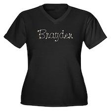 Brayden Spark Women's Plus Size V-Neck Dark T-Shir