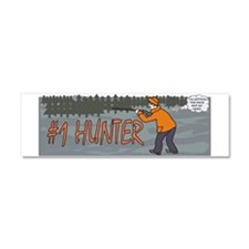 #1 Hunter Car Magnet 10 x 3