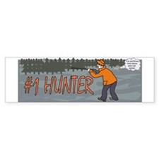 #1 Hunter Bumper Sticker