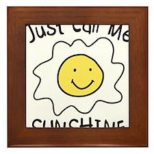 Just Call Me Sunshine Framed Tile