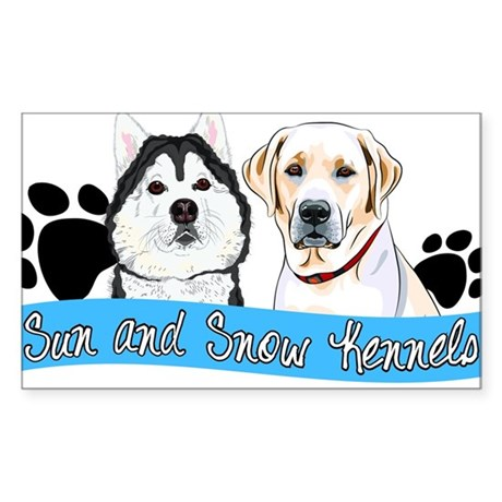 Sun and Snow Kennels Logo Sticker (Rectangle)