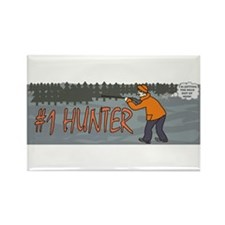 #1 Hunter Rectangle Magnet