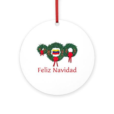 Venezuela Christmas 2 Ornament (Round)