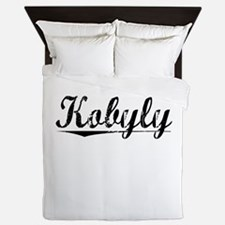 Kobyly, Aged, Queen Duvet
