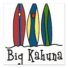 "Big Kahuna Square Car Magnet 3"" x 3"""