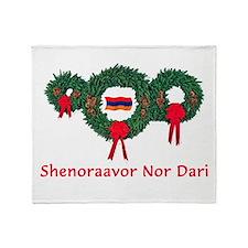 Armenia Christmas 2 Throw Blanket