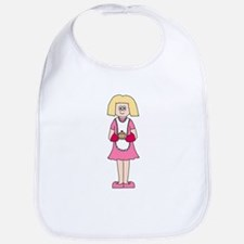 Lady in Pink with Dish. Bib