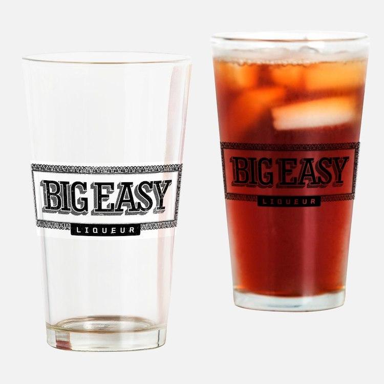 Big Easy Liqueur Black Logo Drinking Glass