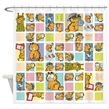Classic Garfield Squares Shower Curtain