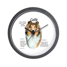 Rough Sable Collie Wall Clock