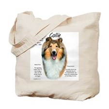 Rough Sable Collie Tote Bag