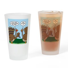 Turkey Peacock Disguise Drinking Glass