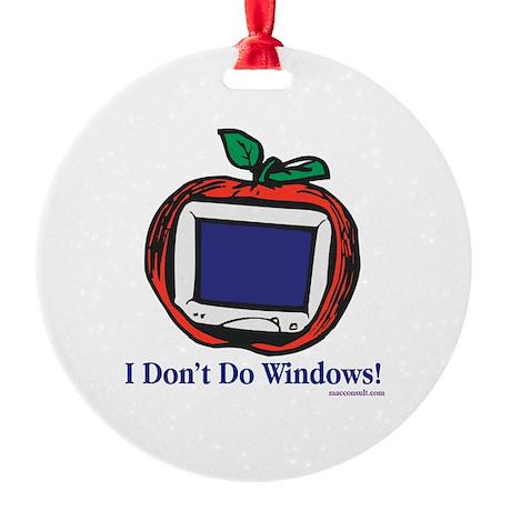 Apple Computer Round Ornament