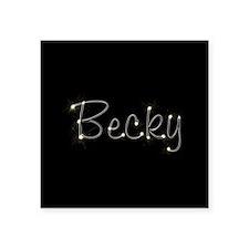 "Becky Spark Square Sticker 3"" x 3"""
