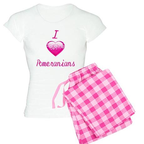 I Love/Heart Pomeranians Women's Light Pajamas
