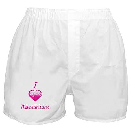 I Love/Heart Pomeranians Boxer Shorts