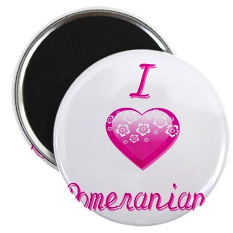 "I Love/Heart Pomeranians 2.25"" Magnet (100 pack)"