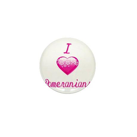 I Love/Heart Pomeranians Mini Button