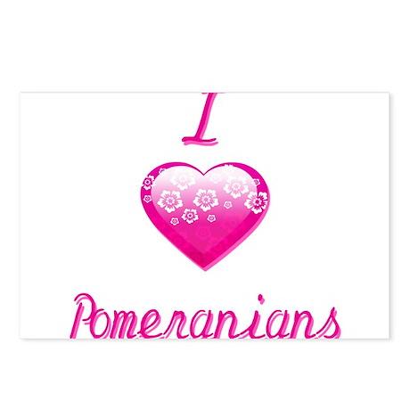 I Love/Heart Pomeranians Postcards (Package of 8)