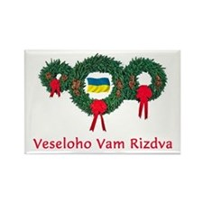 Ukraine Christmas 2 Rectangle Magnet