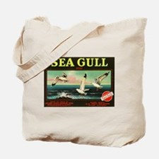 Sea Gull Vintage Crate Label Art Tote Bag