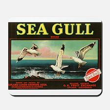Seagull Vintage Crate Label Art Mousepad