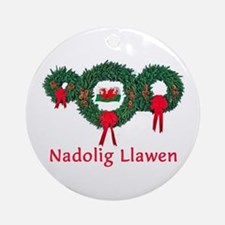 Wales Christmas 2 Ornament (Round)