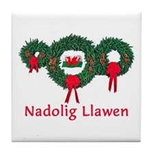Wales Christmas 2 Tile Coaster