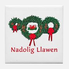Wales Christmas 2 Tile Coaster