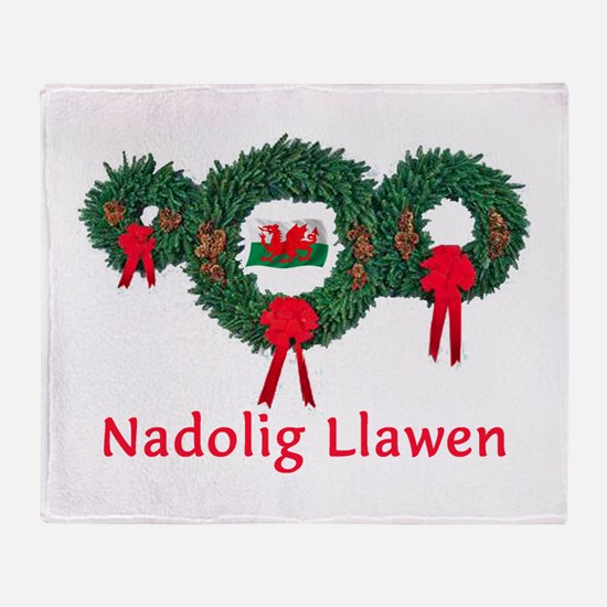 Wales Christmas 2 Throw Blanket