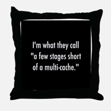 Crazy For Geocaching Throw Pillow
