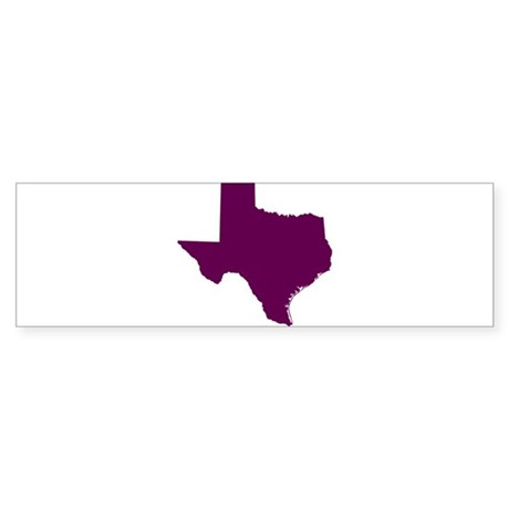 Texas Outline in Purple Sticker (Bumper)