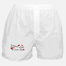 Loves a Latin Boy Boxer Shorts