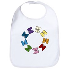 Colorful Butterfly Circle Bib