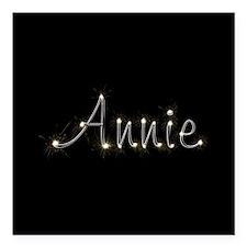 """Annie Spark Square Car Magnet 3"""" x 3"""""""