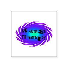 Massage Swirl Rectangle Sticker