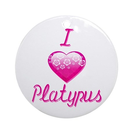 I Love/Heart Platypus Ornament (Round)