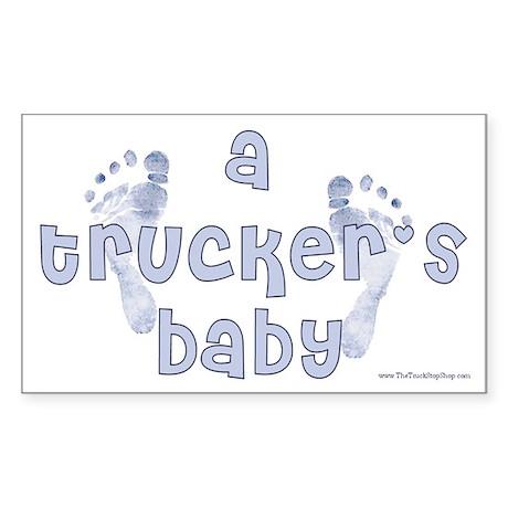 Blue Baby Feet Rectangular Sticker