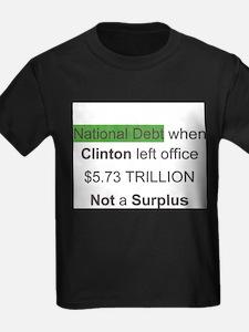 national debt when clinton left office T