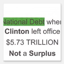 national debt when clinton left office Square Car