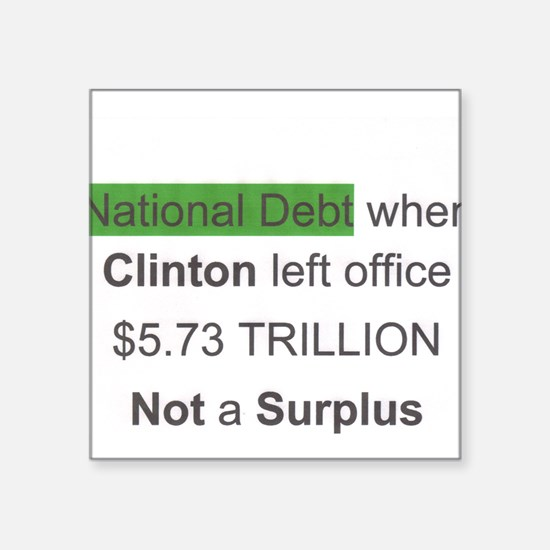 national debt when clinton left office Square Stic