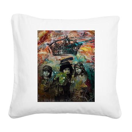 Imagine Square Canvas Pillow