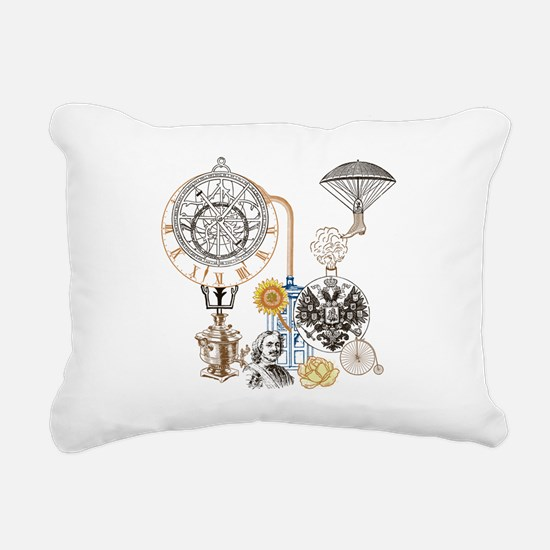 Steampunk Russo Victoria Rectangular Canvas Pillow