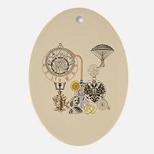 Steampunk Russo Victorian Time Con Ornament (Oval)